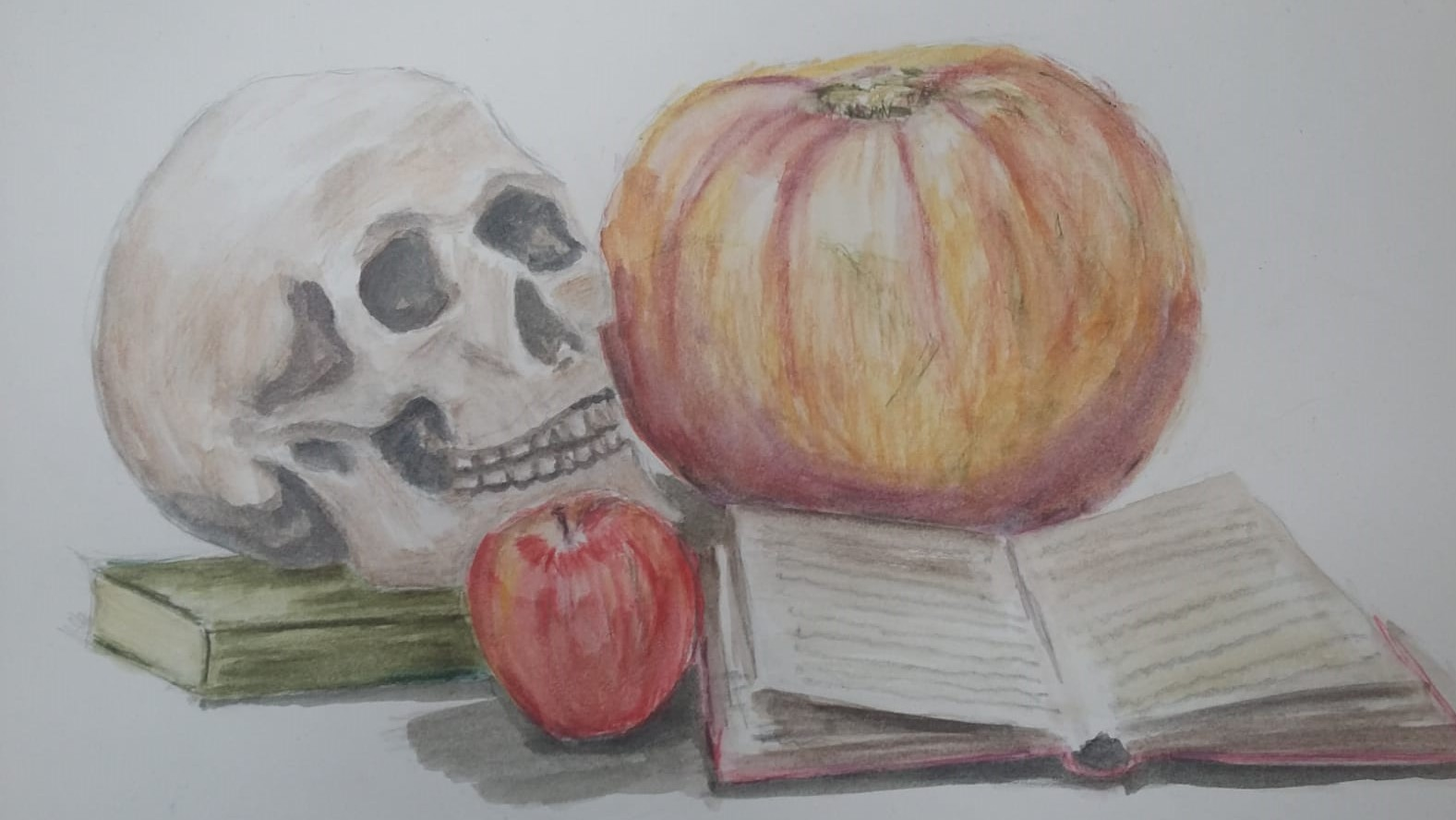 1810 Halloween Still Life Drawing