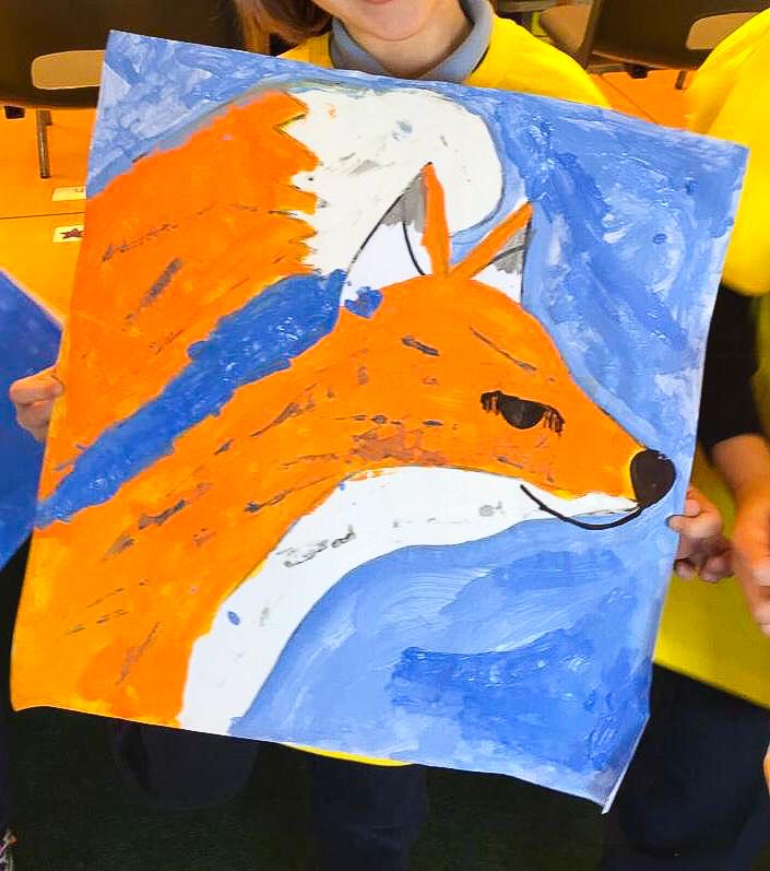 Artzone Junior September Fox Painting 5-7 y/o