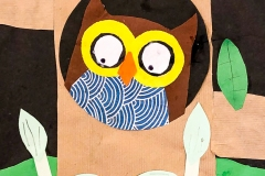 Artzone Junior September Owl Collage  5-7 y/o