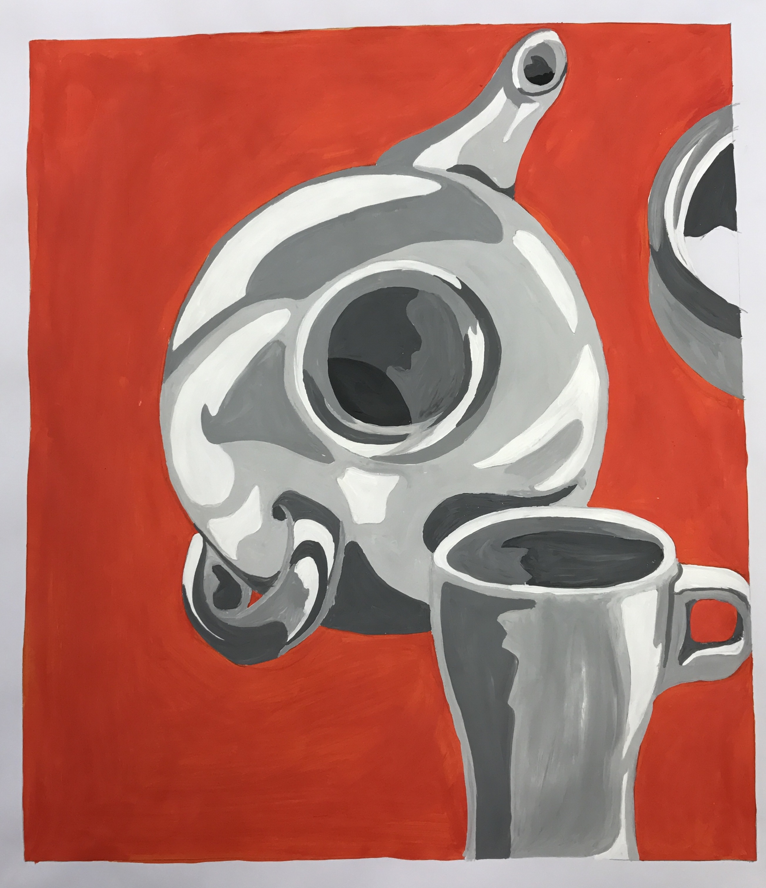 Older Tonal Teapot Painting 4