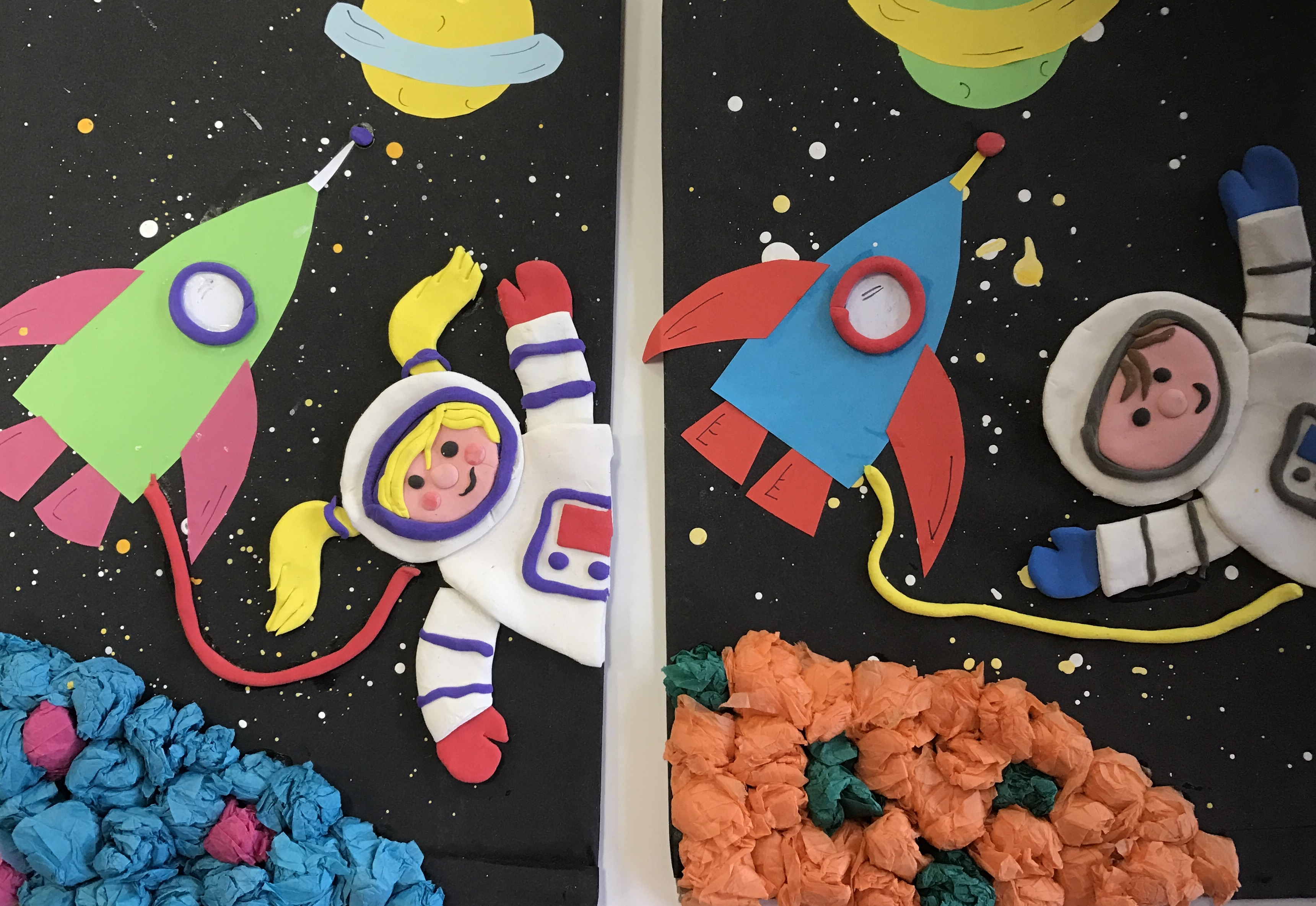 1702 Younger Outer Space Airdough Collage