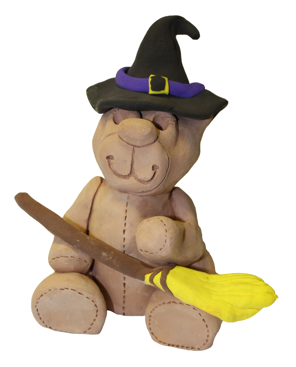 1610 Older Halloween Clay Bear