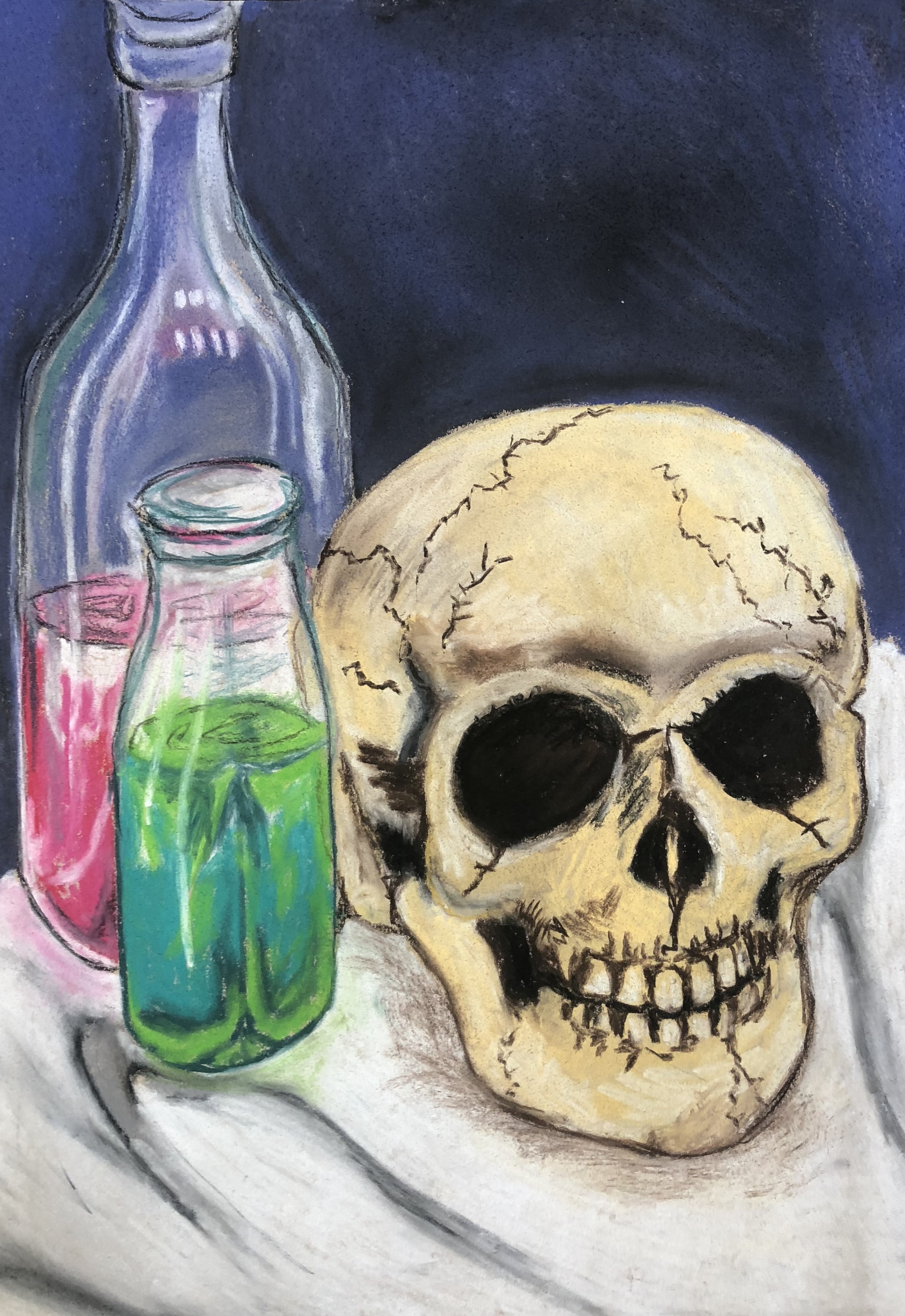 1810 Senior Chalk Pastel Potion Drawing 3