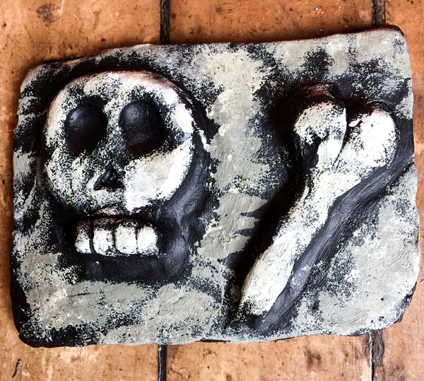 Skull Clay Tile