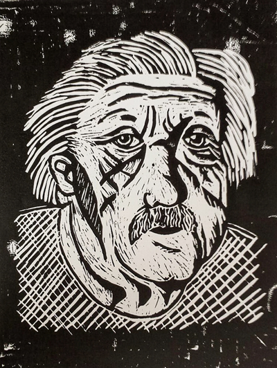 Teenage Lino Print
